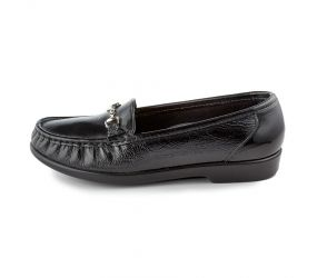 SAS Shoemakers - Metro Black Patent Slip On