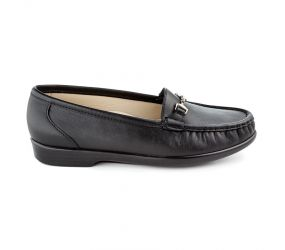 SAS Shoemakers - Metro Black Smooth Slip On