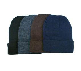 Men's Warm Striped Beanie