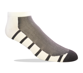 Jox Sox Ultra LowCut White/Grey - Men's