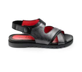 Pas de Rouge - Vella Black/Metallic Sandal