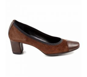 Yves Defarge - Ripol Brown Leather/Suede Pump