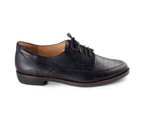 Ziera - Soar Black Croc Leather Oxford