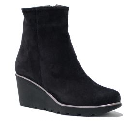 Brunate - Side Zip Wedge Back Suede Bootie Water Resistant