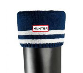 Hunter Welly Stripe Sock Navy