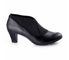 Ziera - Taboo Black Leather Shootie