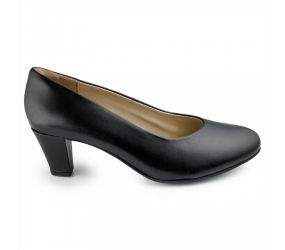 Ziera - Tess Black Leather Pump