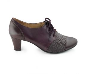 Ziera - Tiger Merlot/Snake Heeled Oxford