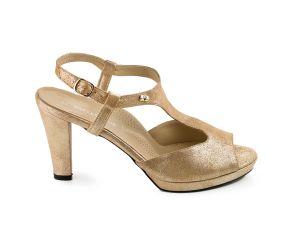 Valleverde - Gold Heeled Dress Sandal