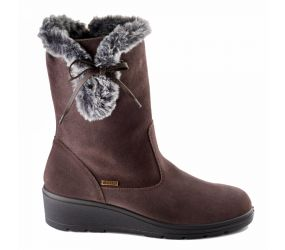 Valleverde - Brown Waterproof Zip Fur Boot