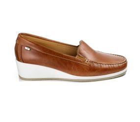 Goldstar - Tan Leather Wedge Slip On