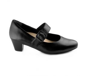 Ziera Valley Leather Mary Jane - Black