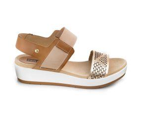 Pikolinos - Mykonos Nude/Gold Sandal