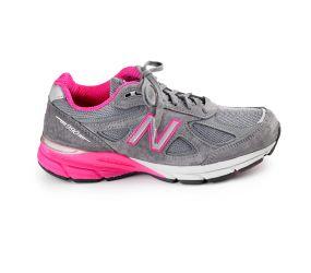 New Balance Women's 990V4 Grey/Pink Running