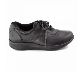 SAS Shoemakers - Walk Easy Black Leather