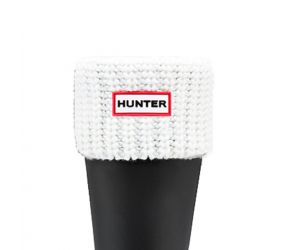 Hunter Half Cardigan Sock Short - White