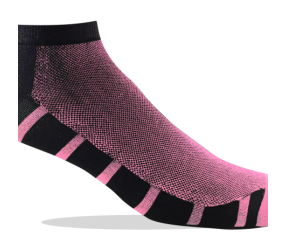 Jox Sox Ultra Low Black/Bright Pink