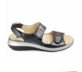 J. Metayer - Anaco Black Leather Sandal