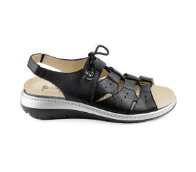J. Metayer - Anada Black Leather Sandal