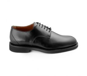 Attiva - Black Leather Plain Toe Oxford