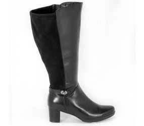 Blondo - Nicky Black Leather/Suede Waterproof Boot - Wide Calf
