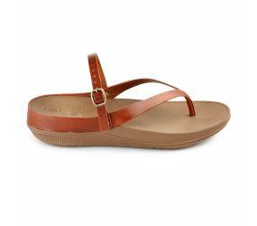 FitFlop Flip Leather TM Dark Tan Sandal