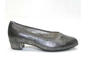 Aetrex - Lindsey Pewter Leather Pump