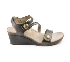 Aetrex - Naya Bronze Wedge Sandal