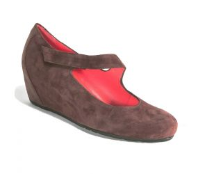 Pas de Rouge - Gilda Chocolate Suede Wedge