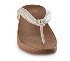 FitFlop Crystal Swirl TM Nude Thong Sandal