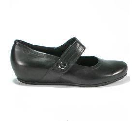 Semler - Gina Black Leather Wedge