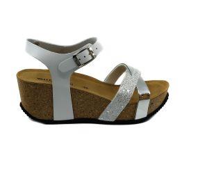 Valleverde - White Cork Wedge Sandal
