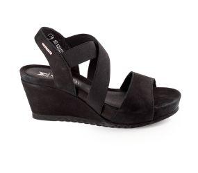 Mephisto - Giuliana Black Nubuck Sandal