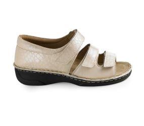 Hergos - Beige Croco Closed Heel Sandal