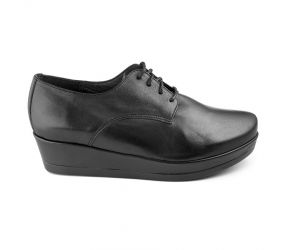Yves Defarge - Mika Black Leather Oxford