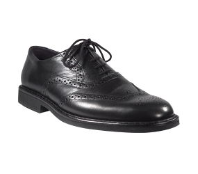 Mephisto Martial Black Smooth Wing Tip