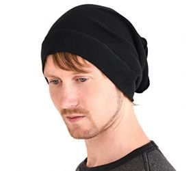 Men's Toboggan Beanie - Black