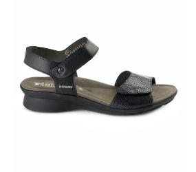 Mephisto - Pattie Black/Dark Grey Sandal