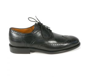 Attiva - Black Leather Wing Tip