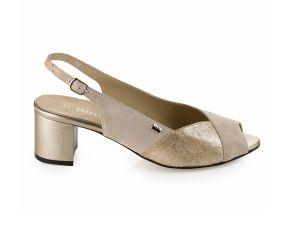 Valleverde - Nude Heeled Sling Sandal