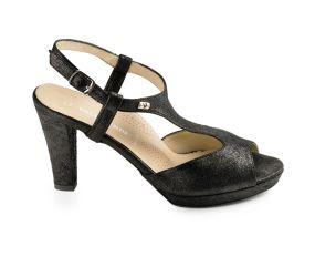 Valleverde - Black Heeled Dress Sandal