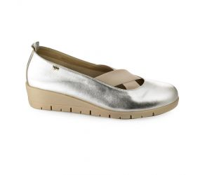 Valleverde - Silver Metallic Slip On
