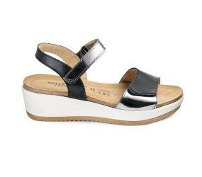 Goldstar - Black Wedge Sandal