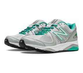New Balance - Women's Motion Control Silver/Mint Green